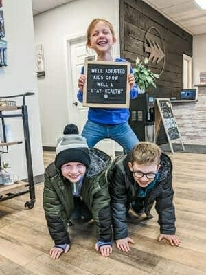 Kids pyramid in the office